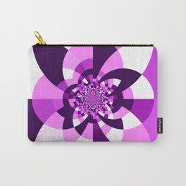 Purple Kaleidoscope Mandala Carry-All Pouch