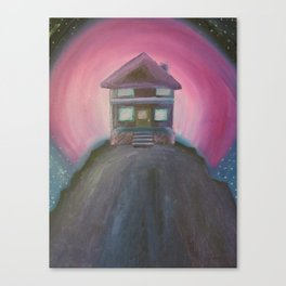 House in the Pink Sky Canvas Print