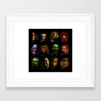 muppets Framed Art Prints featuring Muppets Noir (with names) by MJCreations
