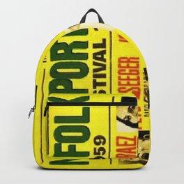 Rare First Year 1959 Newport Folk Festival Advertisement Poster Backpack