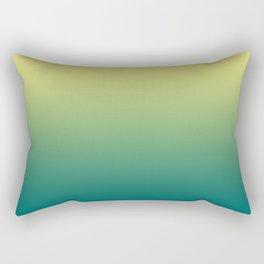 Yellow Lime Quetzal Green Ombre Gradient Pattern Rectangular Pillow