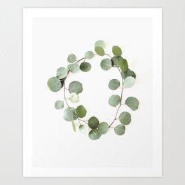 Eucalyptus Circle Art Print