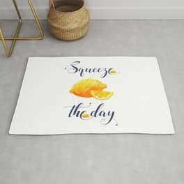 Squeeze the Day Lemon Fruit Vegetable Rug