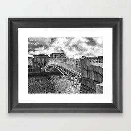 Ha'Penny Bridge in Dublin Framed Art Print