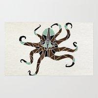 octopus Area & Throw Rugs featuring octopus by Manoou