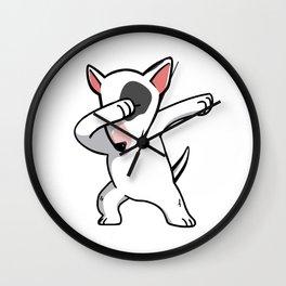 Funny Dabbing English Bull Terrier Dog Dab Dance Wall Clock