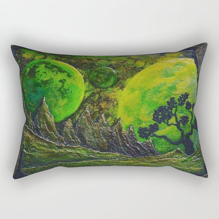 Gleaming Emerald Night Rectangular Pillow