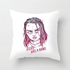 A Girl Has A Name Throw Pillow