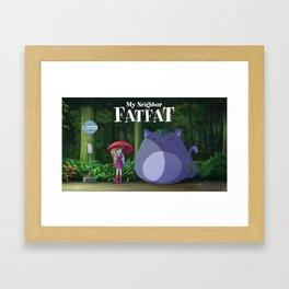 My Neighbor Fatfat Framed Art Print