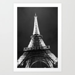 retro eiffel tower  Art Print