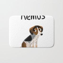 """Custom Dog Art """"Remus"""" Bath Mat"""
