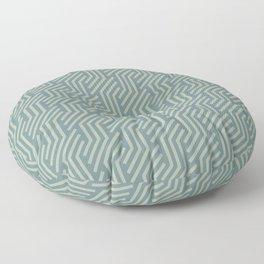 Soft Aqua Blue Green Tessellation Line Pattern 21 2021 Color of the Year Aegean Teal Salisbury Green Floor Pillow