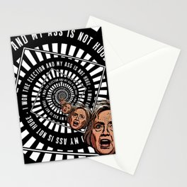 Hillary Clinton Is Delusional Stationery Cards