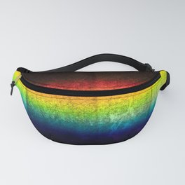 Rainbow colors on stone wall texture Fanny Pack