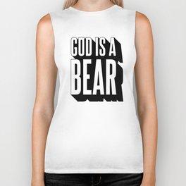 God Is A Bear v.2 - Black Biker Tank