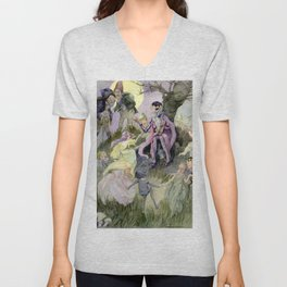 """""""Presents of the Little Folk"""" by Anne Anderson Unisex V-Neck"""