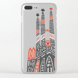 Sagrada Familia Clear iPhone Case