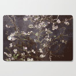 Vincent Van Gogh Almond Blossoms dark gray slate Cutting Board