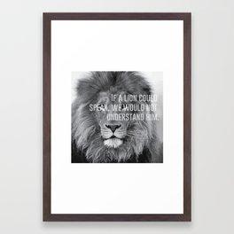 lion heart.  Framed Art Print
