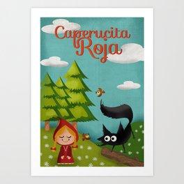 Caperucita Roja - Little Red Riding Hood  Art Print