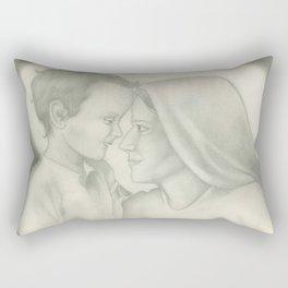 Child Jesus and Mary Rectangular Pillow
