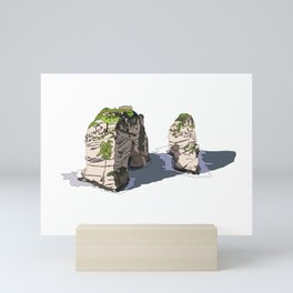 Pigeon Rocks, Lebanon Mini Art Print