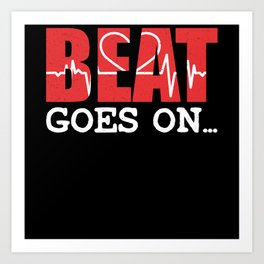 Beat Goes On EKG Valentine's Day Design Art Print