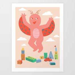 Baby Kaiju Crawley Art Print
