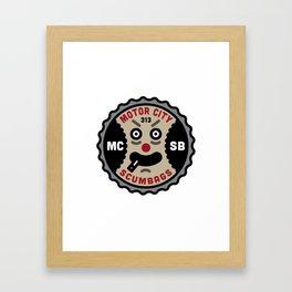 Motor City ScumBags Logo Framed Art Print
