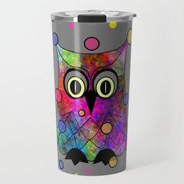 Psychedelic Owl Travel Mug