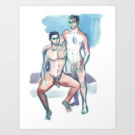 BRIAN & KEVIN, Nude Men by Frank-Joseph Art Print