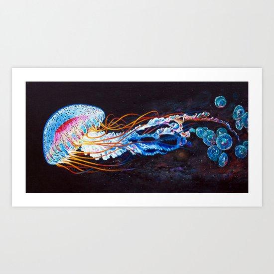 Nebula Jellyfish Art Print