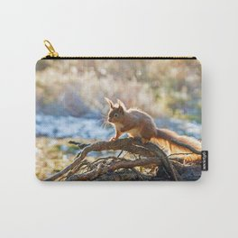 Squirrel on branch Carry-All Pouch