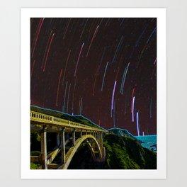 Bixby Creek Bridge Stars Art Print