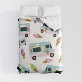 Retro Ice cream Truck Pattern Comforters