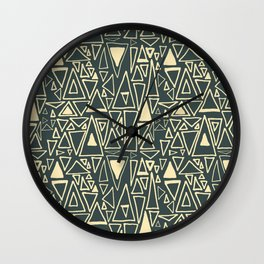 Chaotic Angles in Slate by Deirdre J Designs Wall Clock