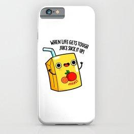 Juice Suck It Up Cute Juice Pun iPhone Case
