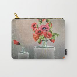 Bottled Red Poppies Carry-All Pouch