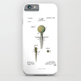 Golf Tee Patent - 1899 iPhone Case