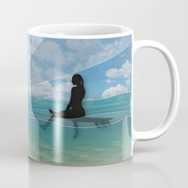 View from a Surfboard Coffee Mug