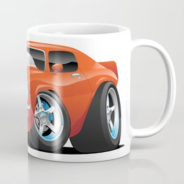 Classic Seventies Muscle Car Cartoon Coffee Mug