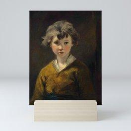 "Sir Joshua Reynolds ""Edwin: Study of a young boy, half-length, in a brown coat"" Mini Art Print"