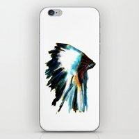 headdress iPhone & iPod Skins featuring Headdress by James Peart