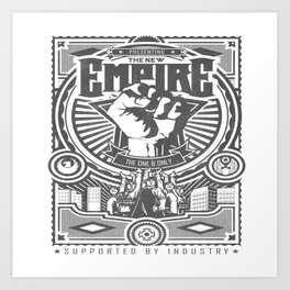 THE NEW EMPIRE. Art Print