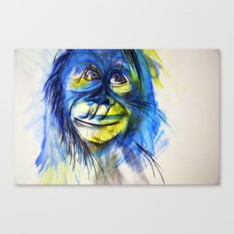 Blue and Yellow Monkey Canvas Print