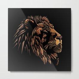 Lion Abstract Illustration Metal Print