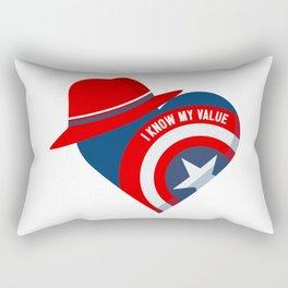 Superhero Heart Agent Rectangular Pillow