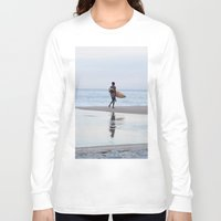 surfer Long Sleeve T-shirts featuring Surfer by Love the Shoot