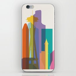 Shapes of Seattle accurate to scale iPhone Skin