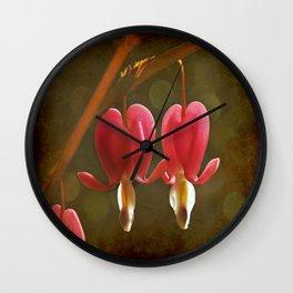 Touching Hearts Wall Clock